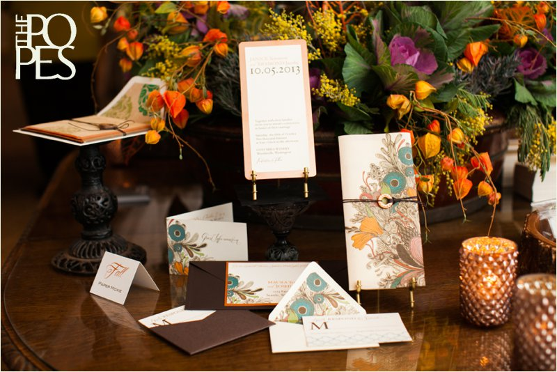 Fall table at Weddings in Woodinville by Bella Rugosa and Paper Moxie, Photo by The Popes