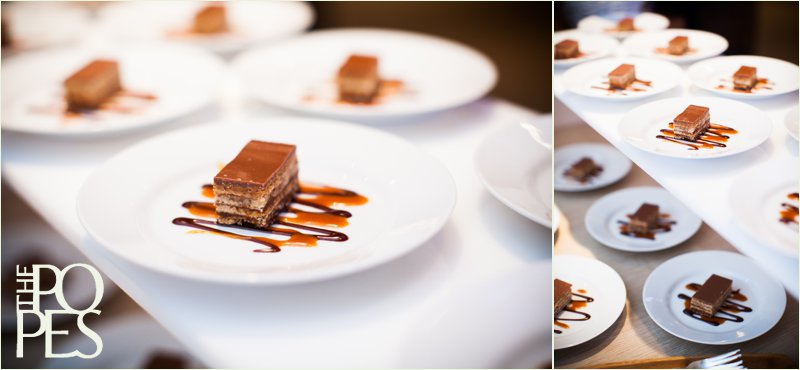 Chocolate and caramel dessert by Lisa Dupar Catering