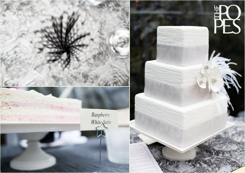 White Wedding cake by New Renaissance in Seattle.