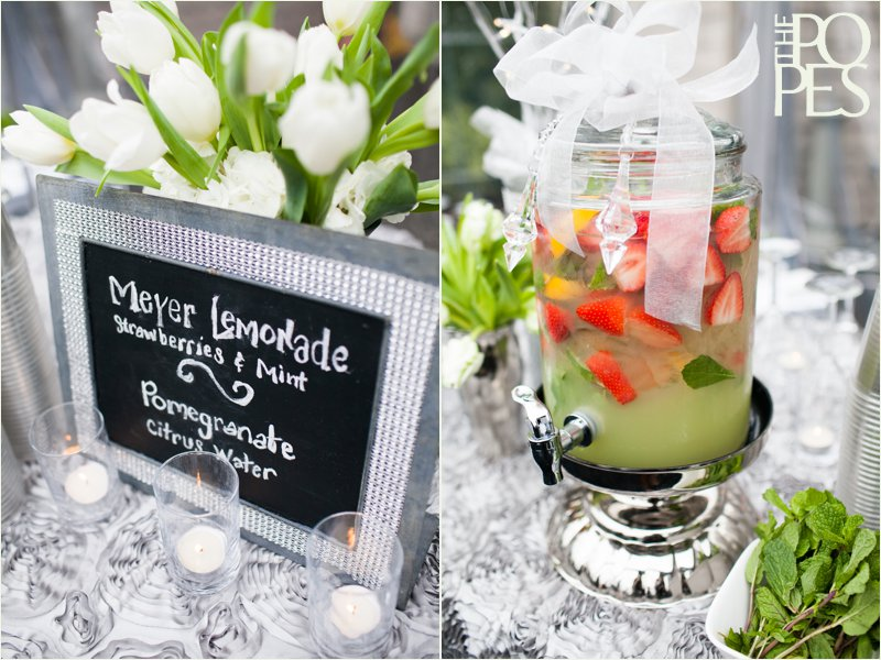 Strawberry lemonade at Weddings in Woodinville by A Platinum Event.