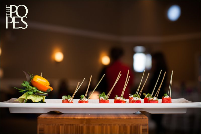 Artistic display of watermelon appetizer by Lisa Dupar Catering.