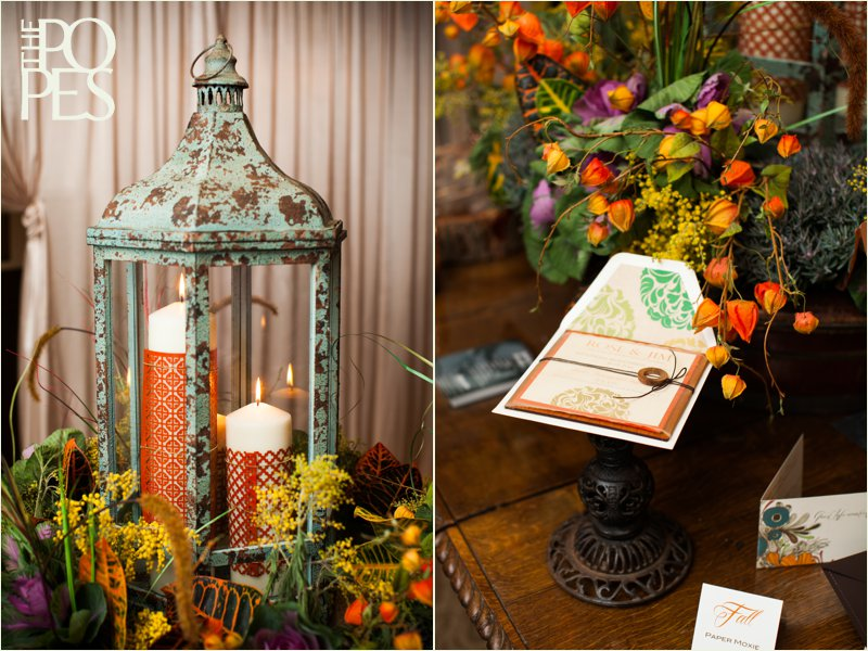 Fall wedding decor by Bella Rugosa at Weddings in Woodinville 2013.