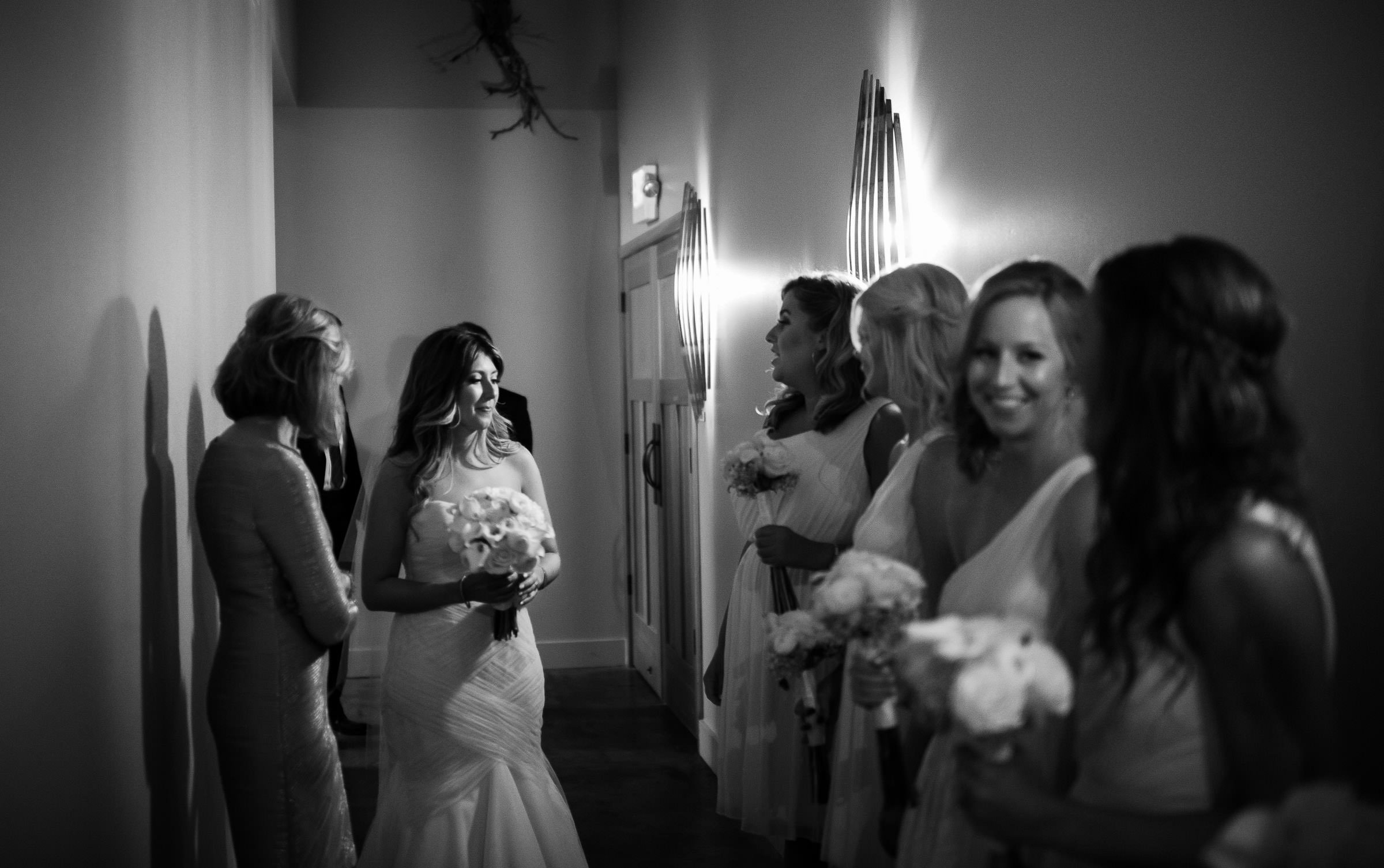 bride waiting for ceremony to begin